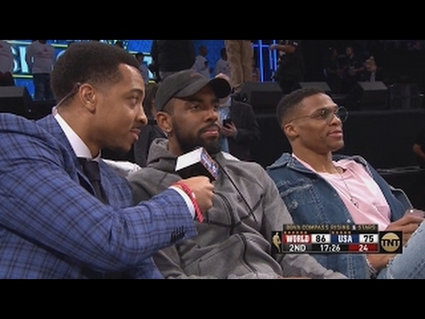 CJ McCollum Interviews Kyrie Irving & Russell Westbrook (Funny Interview)