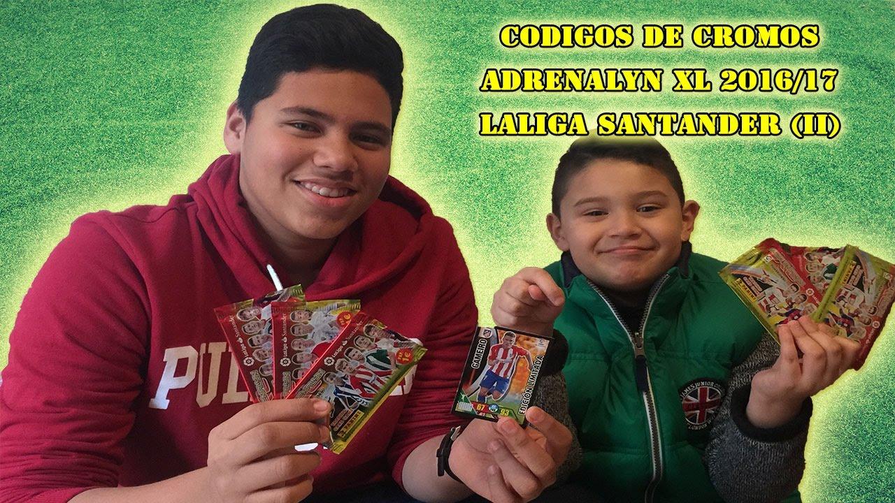 CODIGOS DE CROMOS ADRENALYN XL 2016 17 LALIGA SANTANDER (II) - YouTube f33d12ccd157e