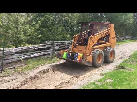Heavy Lift with Skid Steer - Case 1845c