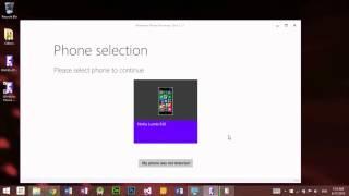 ការប្រើប្រាស់ Windows Phone Recovery Tool