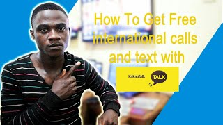 How To Get Free International Calls and Text with Kakaotalk screenshot 2