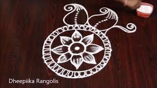 beautifull freehand mango kolam design l simple and easy rangoli design l new muggulu