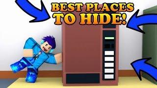 TOP 5 BEST PLACES TO HIDE!!   Roblox Jailbreak