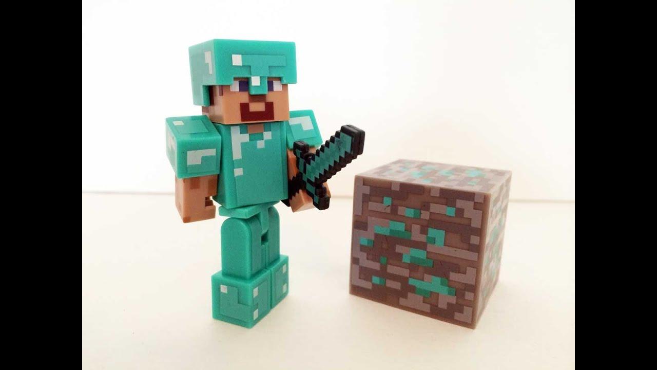 minecraft how to make a diamond armor steve statue