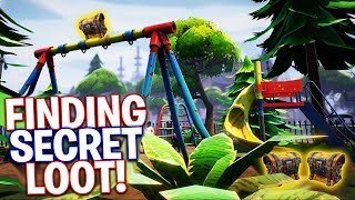 FINDING SECRET LOOT! Fortnite Battle Royale (PS4 Pro)