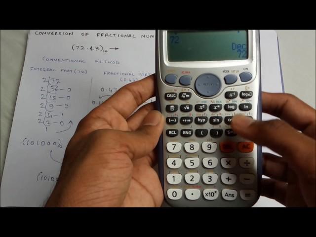 Fractional decimal to binary using CALCULATOR(fastest way!)( Read Description)