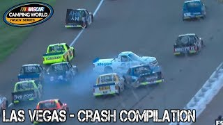 Nascar Truck Series - 2017 - Las Vegas - Crash Compilation thumbnail