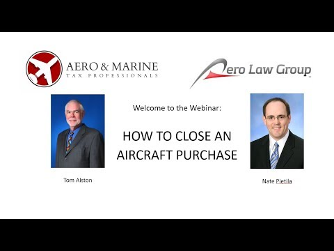 Webinar: How to Close An Aircraft Purchase