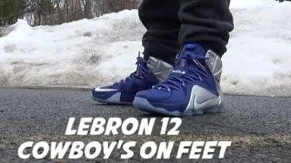 nike lebron 12 what if aka cowboys sneaker on feet review