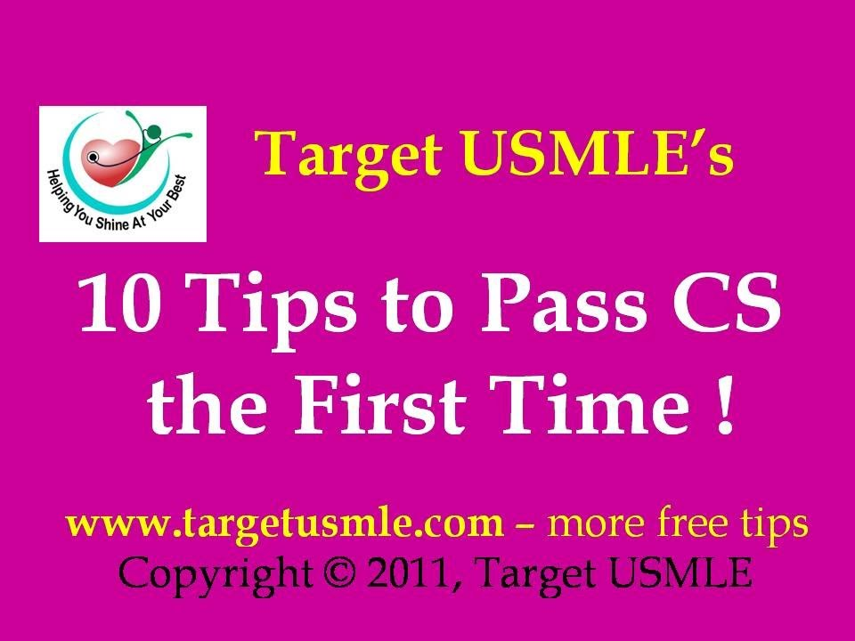 USMLE | Step 2 CS | 10 tips to pass Step 2 CS | the First Time | Target  USMLE - YouTube