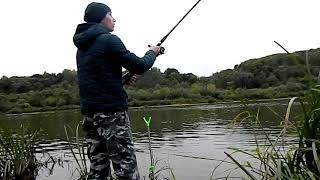 На карповой рыбалке в октябре