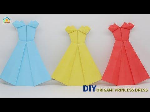 DIY Origami Princess Dress | How To Make Cute Origami Dresses Easily | Crafts Do It