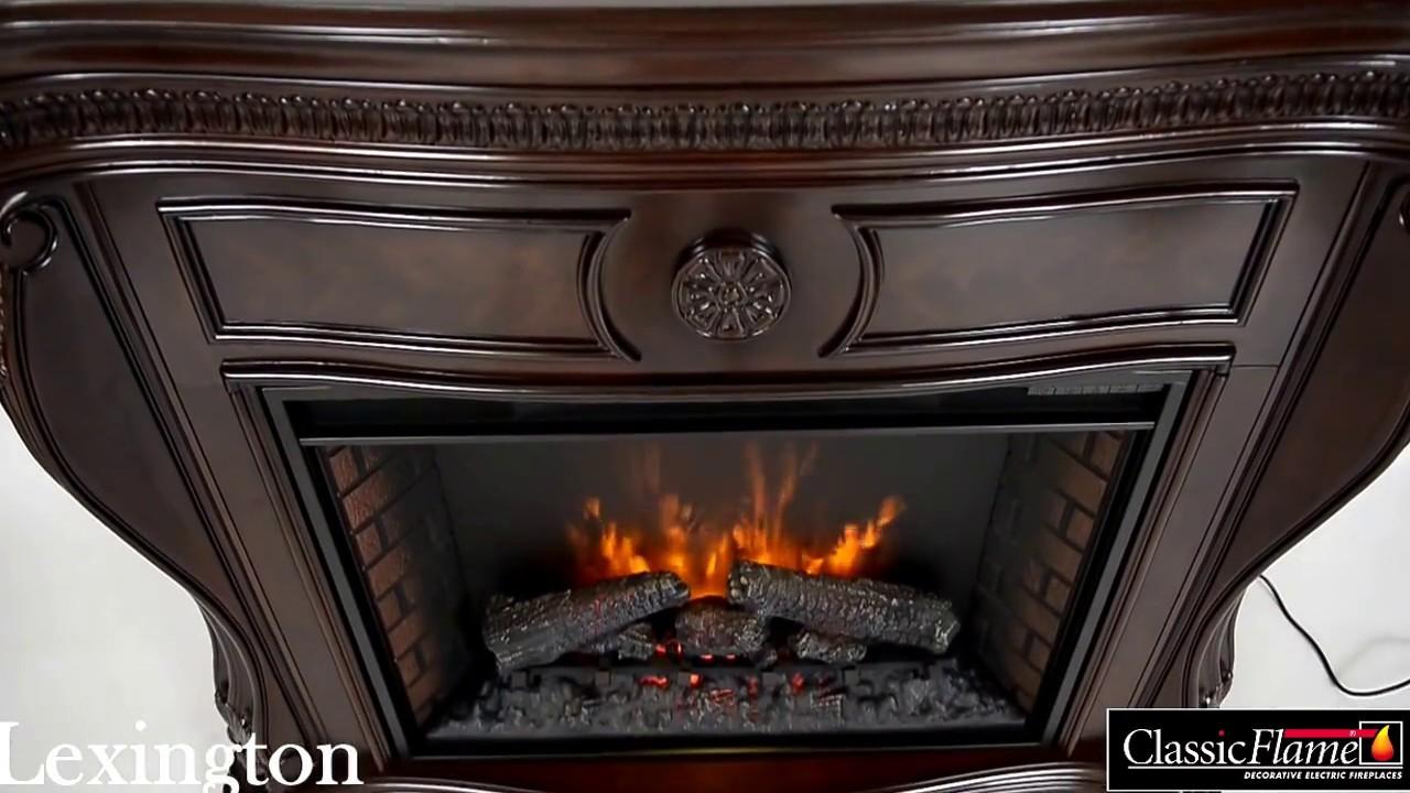 kominek elektryczny elektrokamin led classic flame lexington youtube