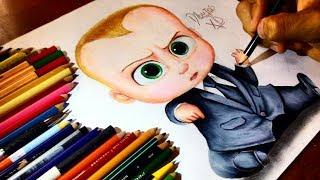 dibujando a bebe jefazo the boss baby movie   drawing the boss baby   dibujos xd