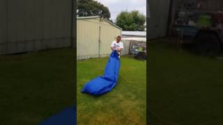How to blow up an inflatable air bag