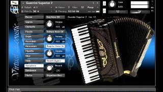 Repeat youtube video Guerrini Superior 2 accordion for NI Kontakt VST - Liber Tango DEMO [Virtual Acoustic]