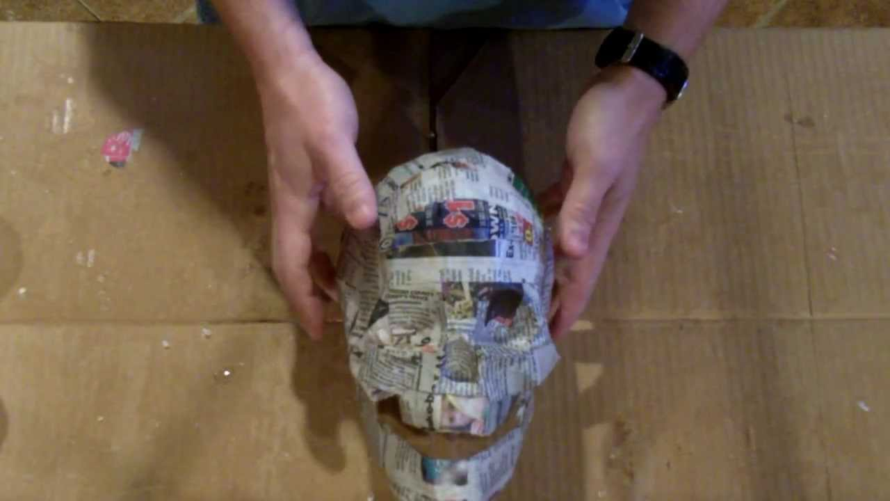 Paper mache skull youtube for What to make out of paper mache