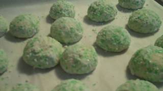 Edible Glitter Key Lime Cookies