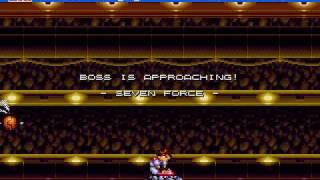 Gunstar Heroes - Seven Force boss fight