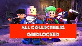 Lego DC Super Villains Gridlocked Free Play 100% all Minikits and Collectibles