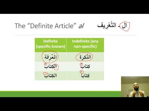 Arabic Grammar: Three Parts of Speech & Conjunctions & the Definitive Particle