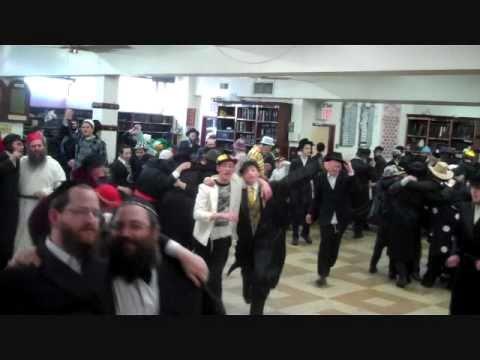 Jews Celebrating Purim in Boro Park