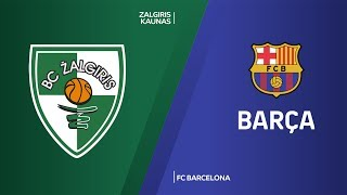 Zalgiris Kaunas - FC Barcelona Highlights | Turkish Airlines EuroLeague, RS Round 7