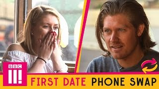 Couple on a First Date SWAP Phones For The First Time
