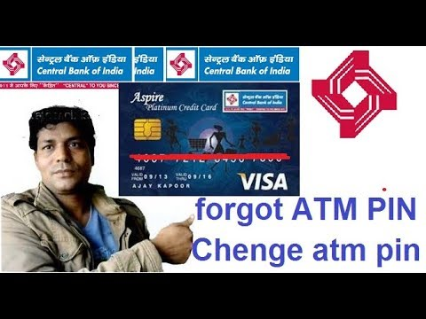 How to/Reset ATM CARD Pin/chenge atm CARD pin/Central Bank Of India/2018