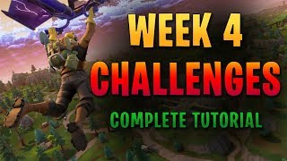 Fortnite : Week 4 Challenges Complete Guide! - Search Between a Vehicle Tower