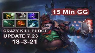 Dota 2 Pro Player Pudge Crazy Kill Update 7.23