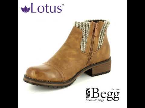 40d5dbfd5 Lotus Ayla Tan ankle boots - YouTube