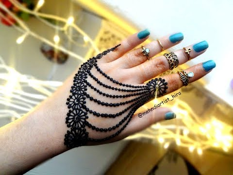 Beautiful Henna Mehndi Jewellery : Beautiful mehndi henna jewellery inspired design tutorial for eid