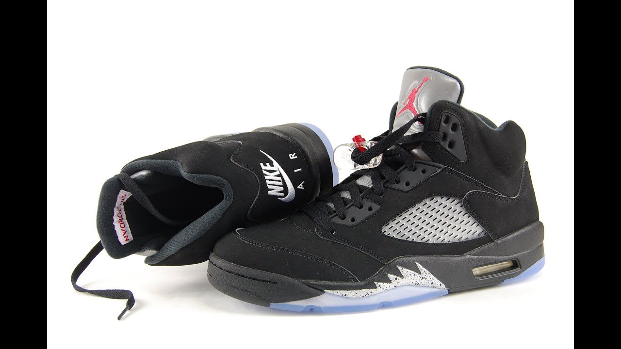 Air Jordan 5 OG Black Metallic Silver Nike Air 2016 Review + On Feet -  YouTube