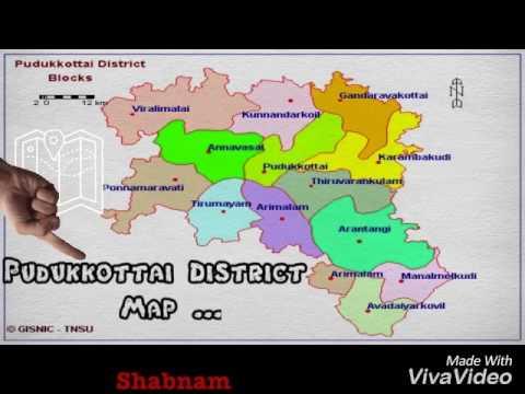 #allaboutpdkt Pudukkottai District Map