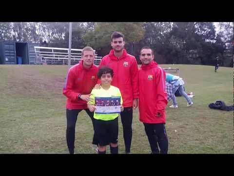 Training with Barcelona - Barca Academy Brisbane - July 2018 - HM10 The Golden Boy