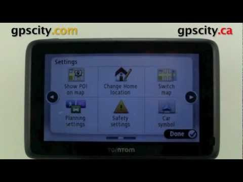 how to put in address with tomtom