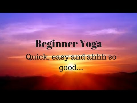 Beginner yoga 20 minutes with meditation