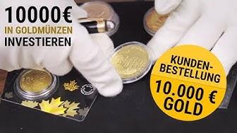 Goldmünzen 🔱 10.000 EUR in Gold investieren 🔱 Kundenbestellung