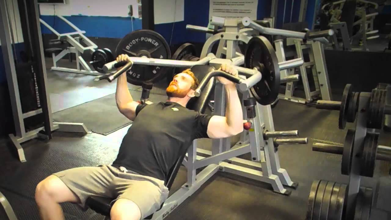 Leverage incline chest press youtube Leverage bench press