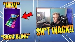 Tfue Gets a *NEW* BACK BLING and TRIES it Out on his Default SKIN Fortnite