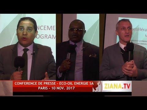 REDIFFUSION. Conférence de Presse Eco-Oil Energie - Paris 10/11/2017