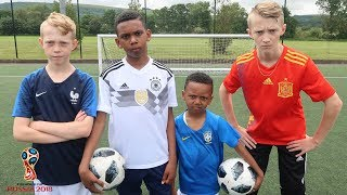 Neymar Jr, Diego Costa, Kylian Mbappé & Reus WORLD CUP Football Challenge!!