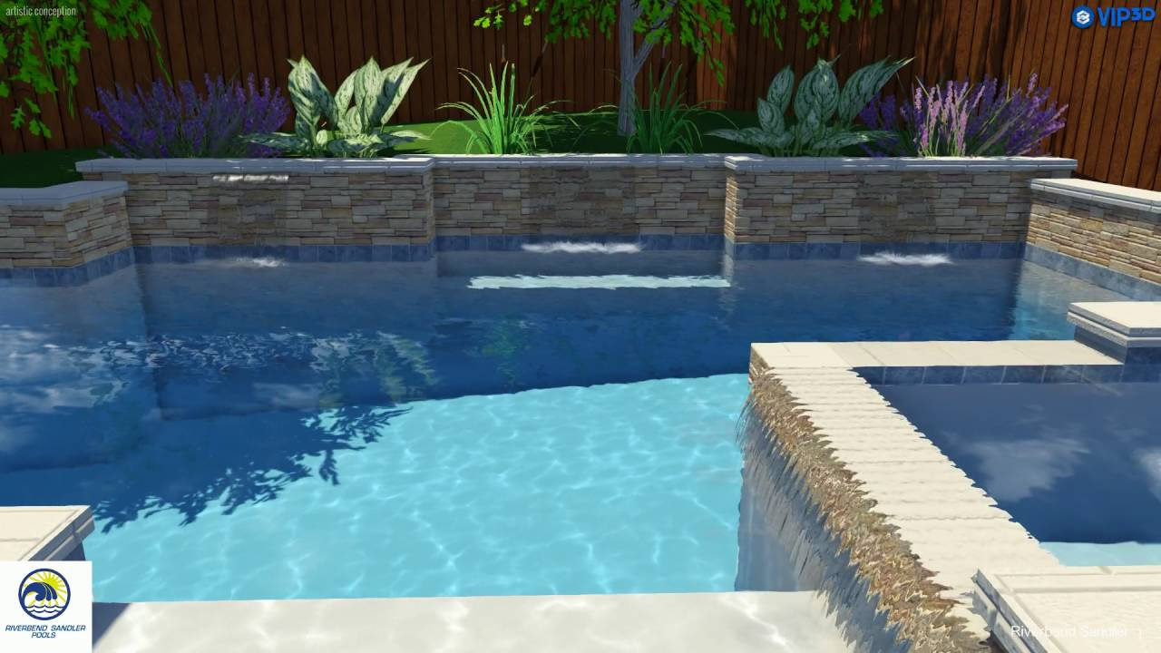 Custom Pool Builders Dallas Raised Wall With Sheer Descent Water