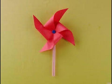 Kağıttan Rüzgar Gülü Yapımı (Sadece Kağıtla)