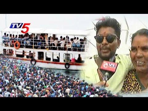 Devotees Delight Over Yachts Trip & Krishna Pushkaralu   Nalgonda   Telugu News   TV5 News