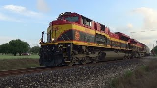 National Train Day Railfanning in South Texas. Featuring Fast Trains, KCS, BNSF