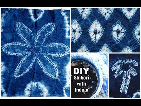 DIY: Shibori with Indigo Dye