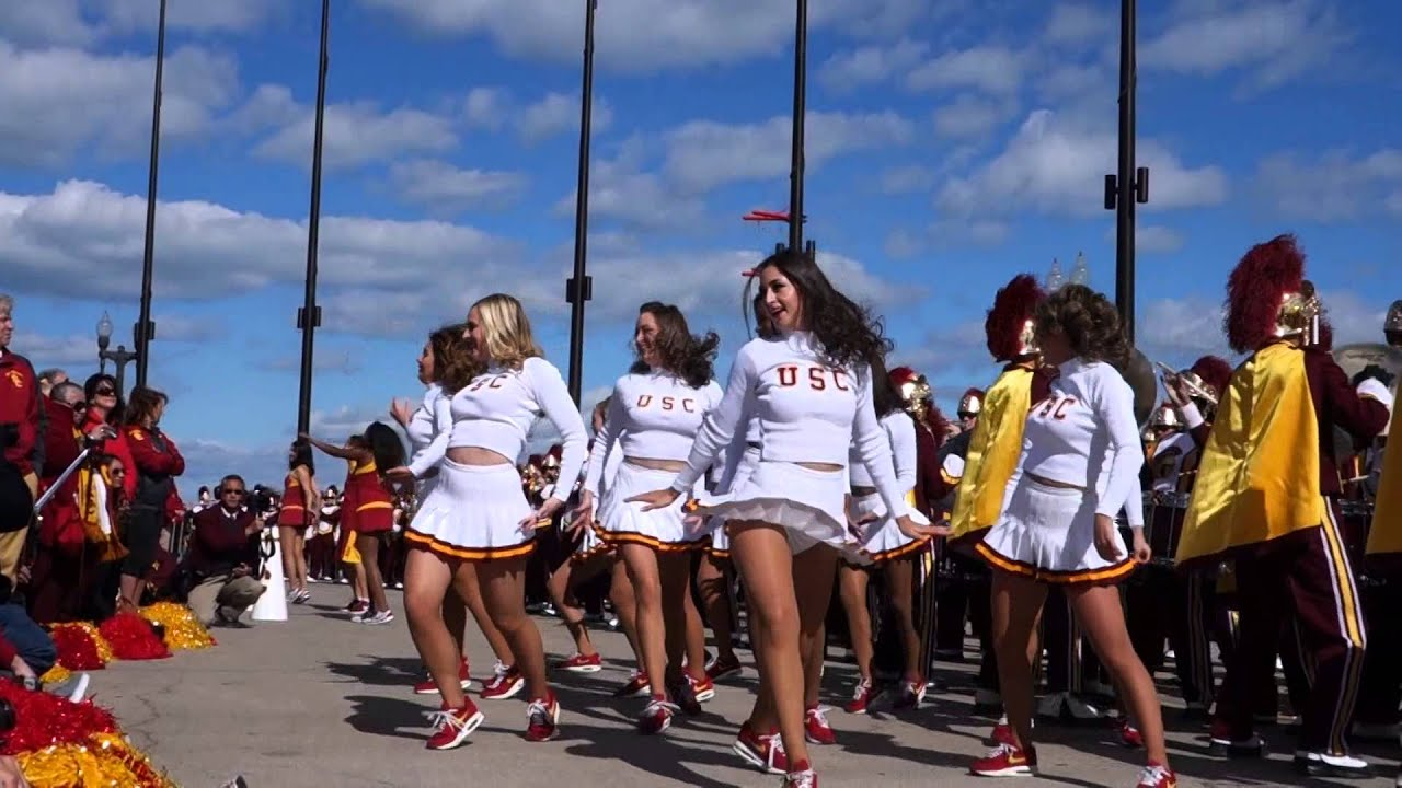 Trojancandy the usc song girls perform with the usc spirit of trojancandy the usc song girls perform with the usc spirit of troy in chicago youtube sciox Image collections