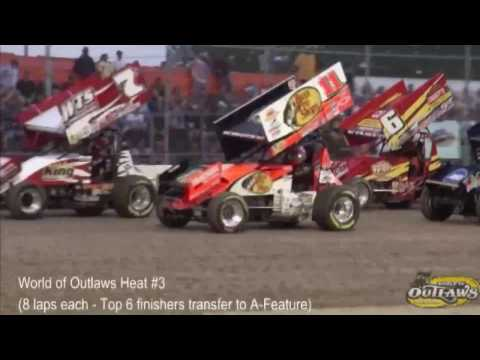 Tony Stewart's first World of Outlaws win July 27/11 @ Ohsweken Speedway ALL Races